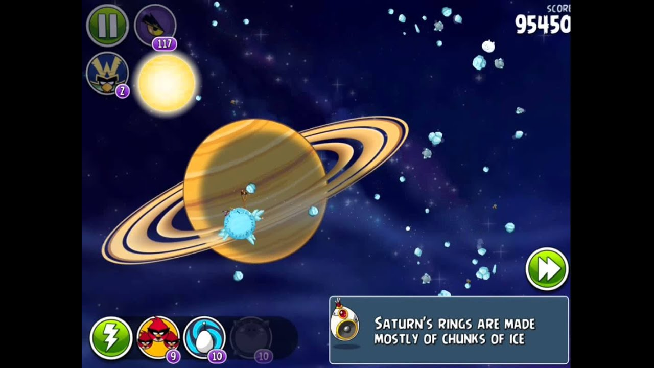 Angry Birds Space - Solar System. Level 10-9 Saturn. 3 stars - YouTube