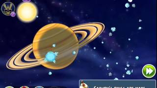 Angry Birds Space - Solar System. Level 10-9 Saturn. 3 stars