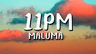 Maluma - 11PM  (Letra/Lyrics)