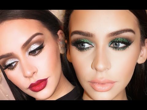 2 Dramatic Holiday Makeup Looks
