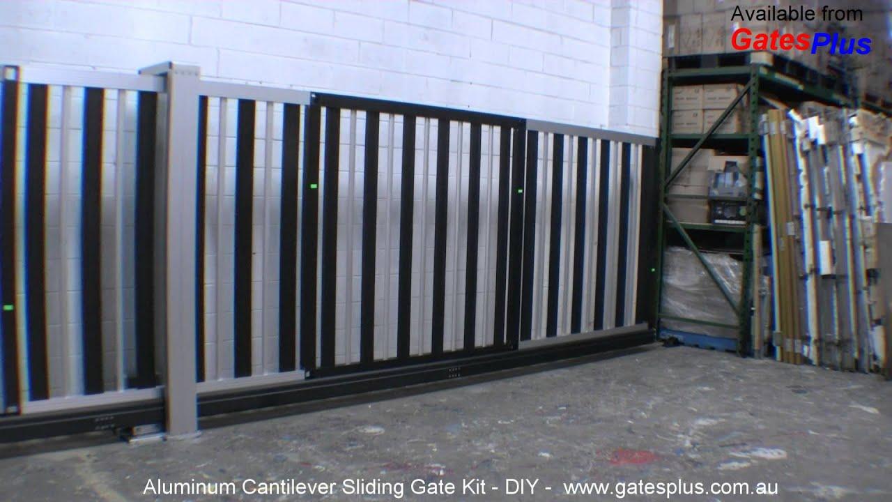 Aluminum Cantilever Gate Diy Youtube