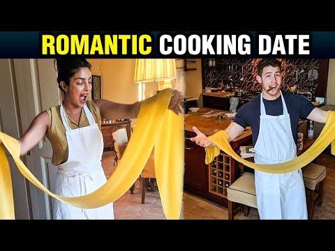 Priyanka Chopra And Nick Jonas ROMANTIC Cooking Class Date | Watch Video