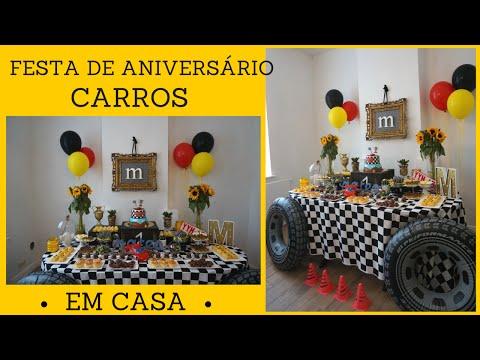 FESTA CARROS EM CASA -COMO DECORAR  POR KATHERINNE RIBEIRO