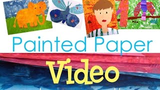 How to Make Painted Paper