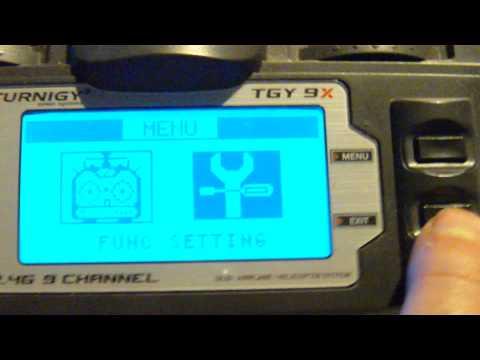 Turnigy 9X Aux Channel Setup.Tutorial in HD