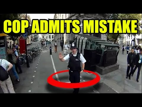 London Cyclist Stopped by Police! (Funny Stuff!)