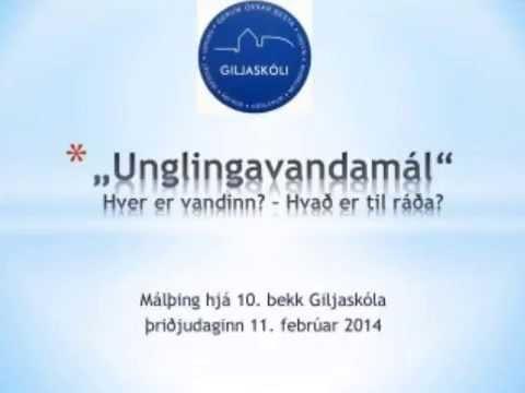 Vormálþing 10. bekkjar 2014 - fyrri dagur