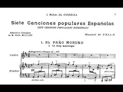 Manuel de Falla: Siete canciones populares españolas (1914)