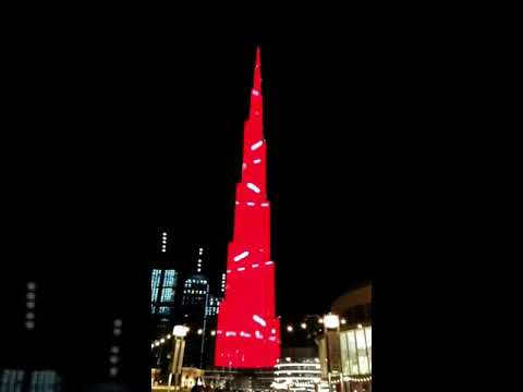 Burj Khalifa 2020 Light Show #shortvideo