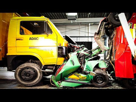 CRASHES - Car VS Truck - INSANE Interior Crash Tests Accident    SAFETY MUST SEE
