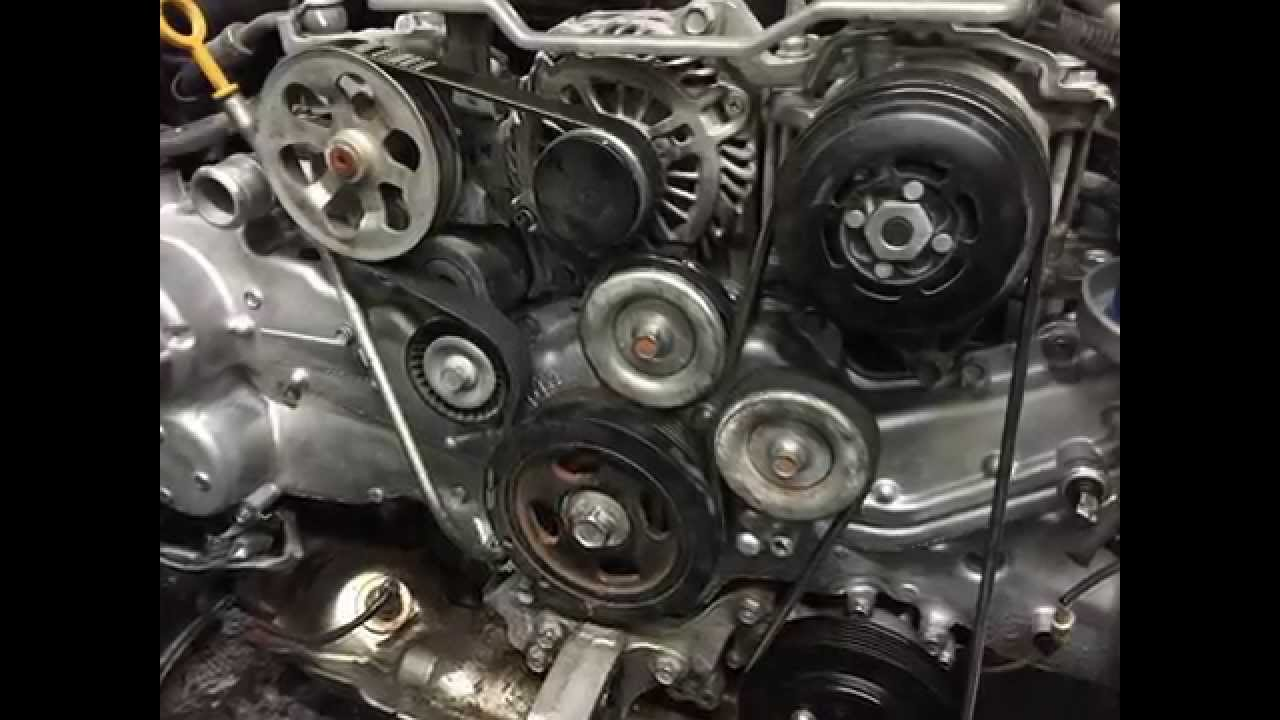2013 Subaru Impreza Engine Diagram Guide And Troubleshooting Of Boxer Timing Belt With 2014 Legacy Outback Serpentine Location Rh Youtube Com Wrx