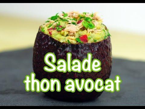 recette-minceur---salade-thon-avocat