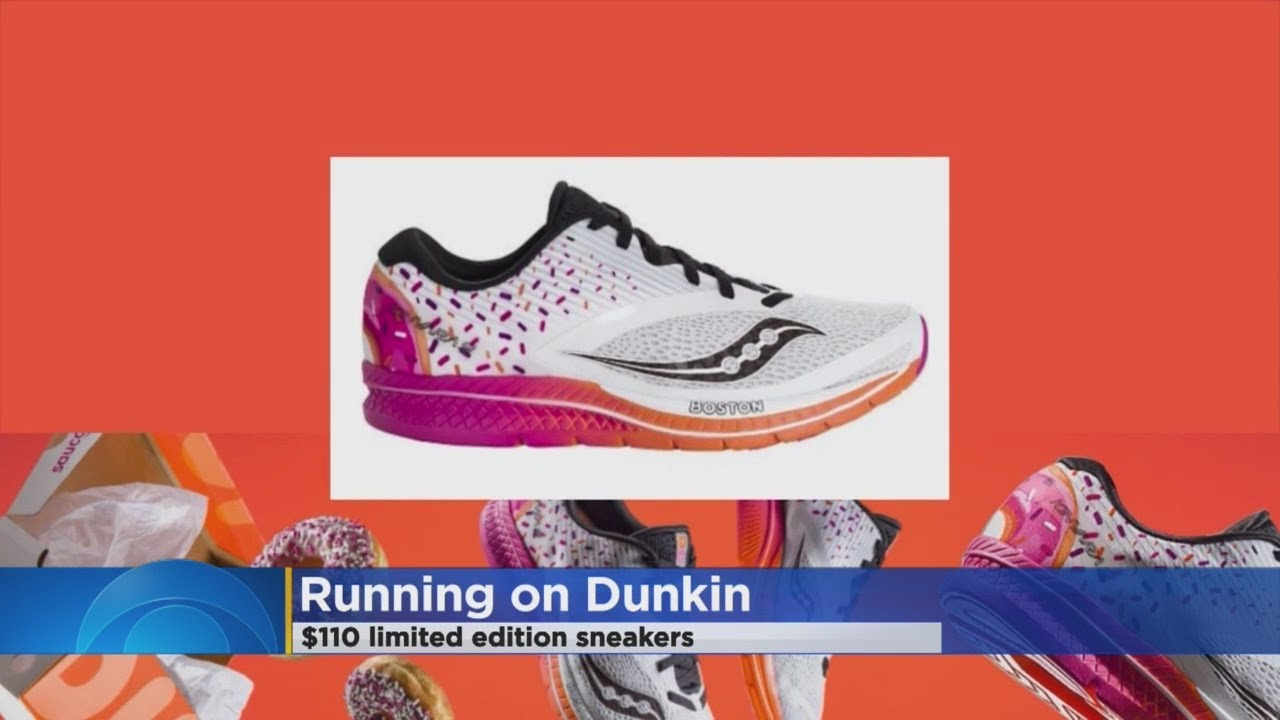 Dunkin  Donuts Unveils New Sneaker Line - YouTube e1f50d21bb1