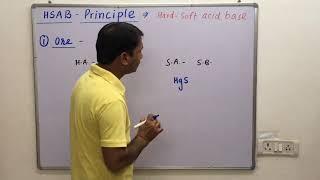 HSAB-Principle / Pearson Theory / Hard ~ soft acid base