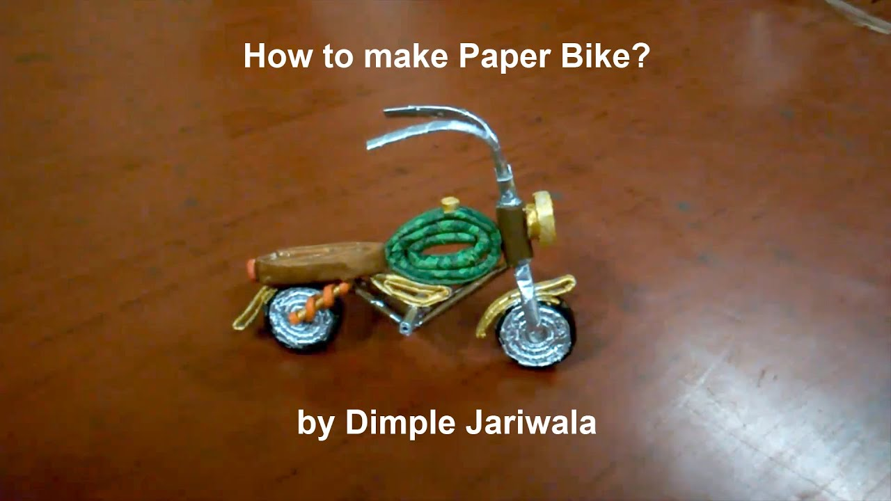 Origami Diagram Motorcycle 2004 Ford Ranger Radio Wiring How To Make A Paper Bike Tutorial Handmade