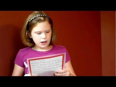 Becky's 3rd Grade Student Council Speech
