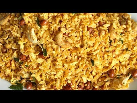 South Indian style chivda recipe atukula mixture recipe street style mixture recipe