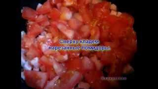 Видео рецепты - омлет с ветчиной, сыром и помидорами