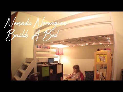 DIY Toddler Loft Bed - Nomadic Norwegian Builds A Bed Timelapse