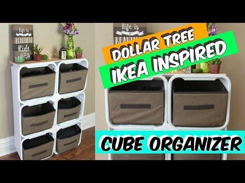 DOLLAR TREE IKEA INSPIRED CUBE ORGANIZER TUTORIAL