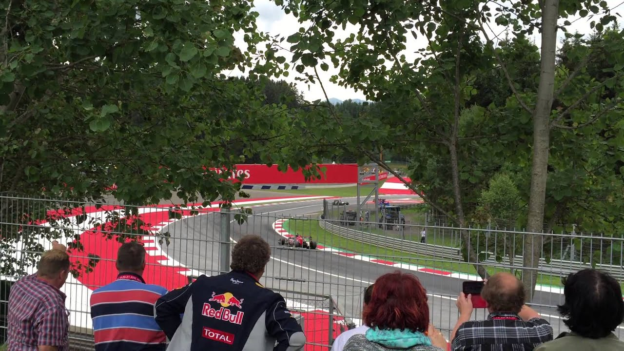 austria view red bull. Turn 8 Views At Red Bull Ring General Admission, 2015 Austrian Grand Prix - YouTube Austria View