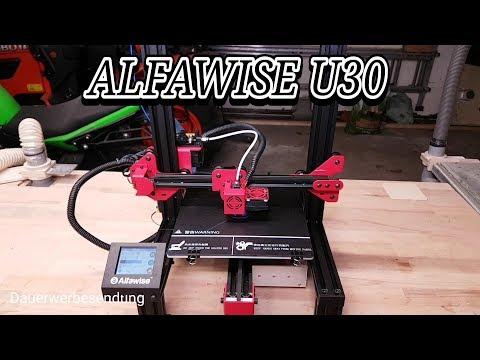 Alfawise U30. Aufbau und der erster Druck.