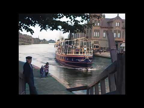 Gezichten Van Waddinxveen In 1922 In Kleur! Waddinxveen In The Netherland In Color In 1922!