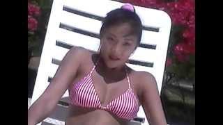 Senna Matsuda 松田千奈 2 - Pink, White Bikini.