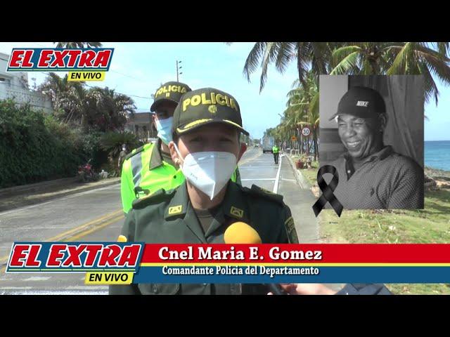 Coronel María Elena Gómez sobre fallecimiento de Fanor Monrroy en accidente de tránsito