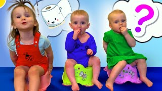 Five Kids Potty Training Song Nursery Rhymes & Children's Songs