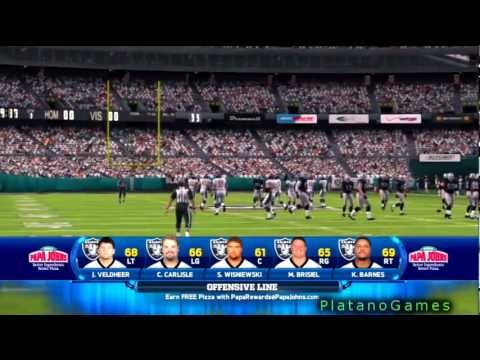 NFL 2012 TNF Week 14 - Denver Broncos (9-3) vs Oakland Raiders (3-9) - 1st Qrt - Madden NFL
