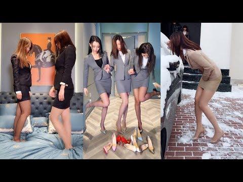 極品美腿「絲襪」制服OL送福利,美女們湊在一起全是戲