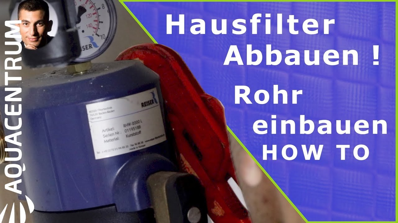 How To Uninstall A House Filter! Install The Pipe   Filter Drinking Water  At The Source