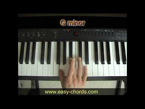 Gm Chord Piano - how to play G minor chord on the piano - YouTube