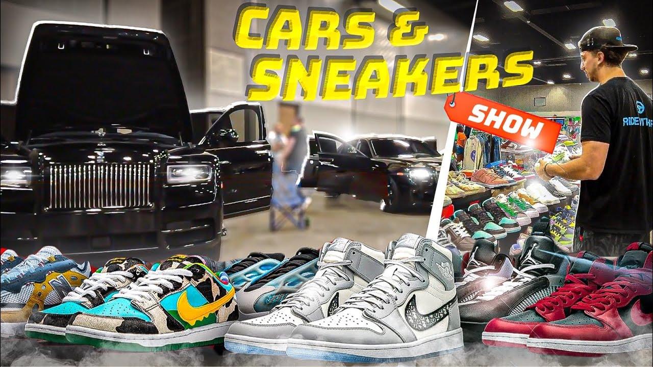 MILLIONS OF DOLLARS IN SHOES AND SUPERCARS at KICKSUPFRONT CAR SHOW!