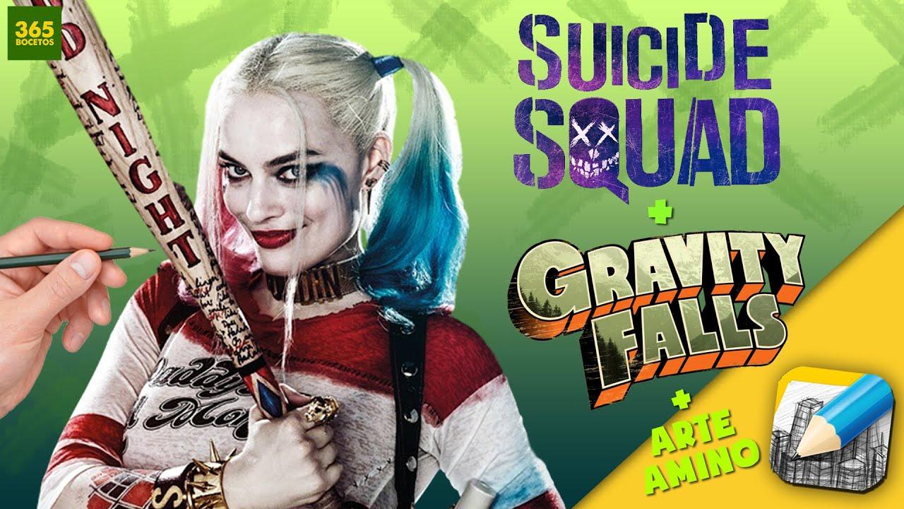 Harley Quinn Kawaii Para Colorear: COMO DIBUJAR A HARLEY QUINN AL ESTILO GRAVITY FALLS