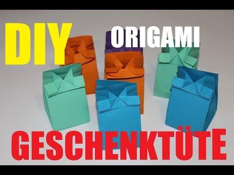 Gut gemocht DIY Origami * Papiertüten basteln * Geschenktüten * Cute Paper ZO66