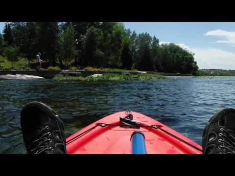 Kayaking Giant Springs, Missouri River, Great Falls Montana