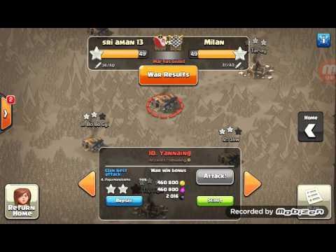 SA13 vs Milan. Clan Best Attack.