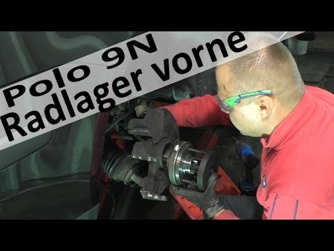 Polo 9N Radlager wechseln im eingebauten zustand / Radnabe vorne  auspressen