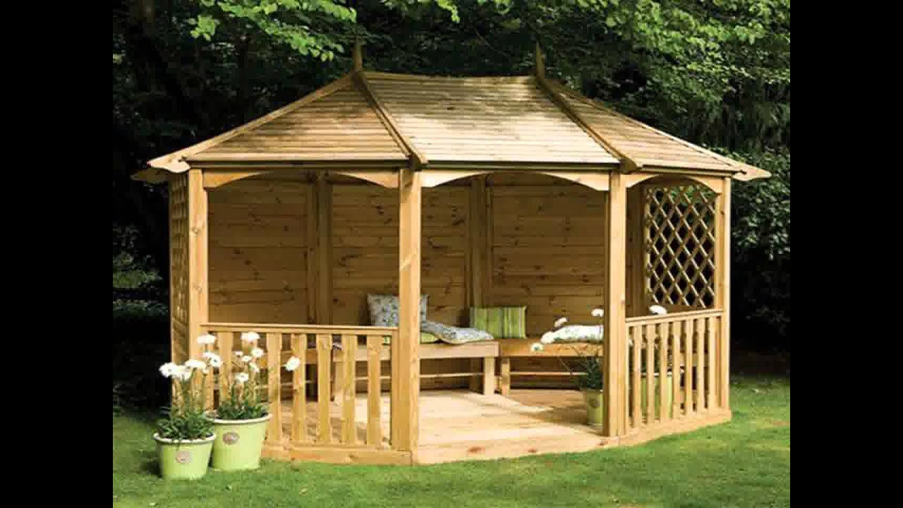 Small home garden gazebo ideas youtube for Small garden shelter