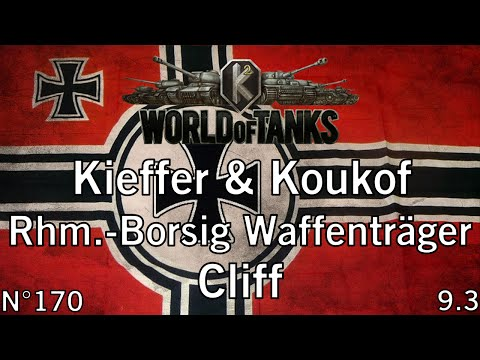 World of Tanks - 9.3 - Rhm.-Borsig Waffenträger - Cliff - (Commentaire de replay) FR 1080p