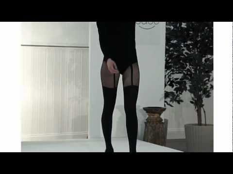 Tightsplease Pretty Polly Pretty Suspender Tights on Catwalk
