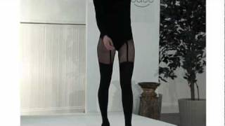 Tightsplease Pretty Polly Pretty Suspender Tights on Catwalk