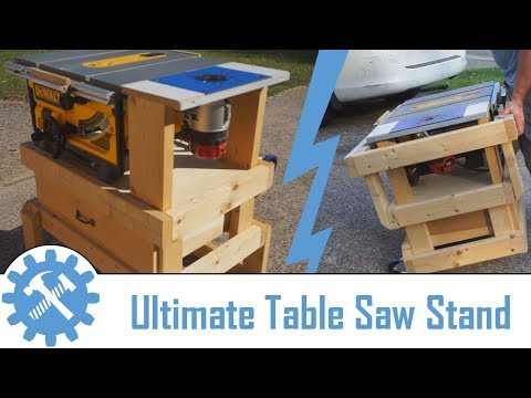 Collapsable DEWALT Table Saw / Router Table Storage Stand