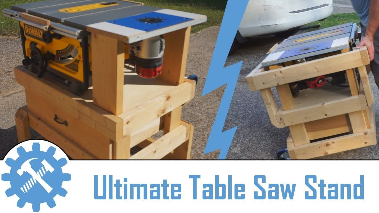 Collapsable dewalt table saw router table storage stand for How to make a router table stand
