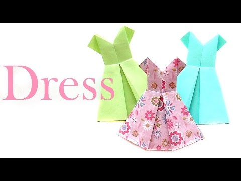 How to make a Paper Dress? Origami Dress easily