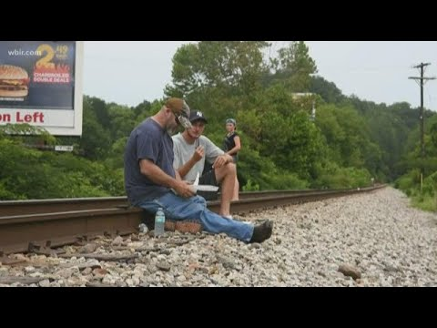 Unpaid Kentucky Coal Miners Protest On Train Tracks