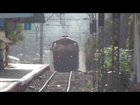 Chennai Express with 4 Engines Chugging at Khandala, Bhor Ghat - Indian Railways