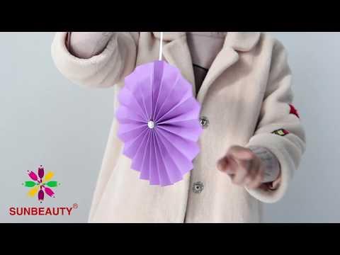 How To DIY Paper Fan Pinwheel - Sunbeauty